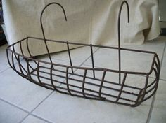 Rusty metal hanging basket hanging plant by deepsouthtreasures, $18.99