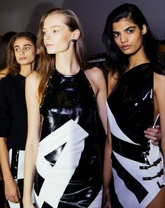 Anthony Vaccarello spring 2015 rtw - behind the scenes