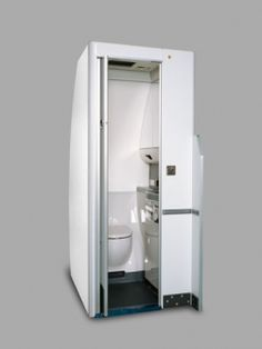 Yokohama Lavatory  Modern lavatories are designed for space economy and typically feature automatic shut-off faucets, extra amenity storage space and new LED lighting, as seen in this lavatory module by Yokohama Aerospace America, the exclusive provider for Boeing 757s. Photo: Yokohama Aerospace America.