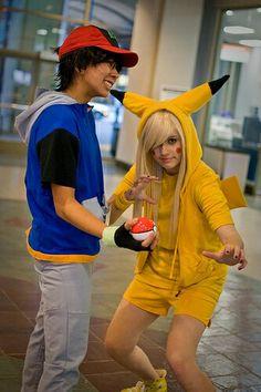 #Cosplay #Couples #Pokemon #Ash & #Pikachu ewe