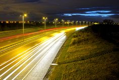 Evening Lights on the M6 Toll Road by Dave Carter · 365 Project