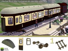 Make your own train coaches with this construction set.  Great for anything from the Orient Express through to abandoned, derelict carriages and old wooden wagons made into homes.  The kit allows...