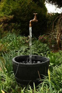Floating Tap Water Feature Including Pump – The Impossible Floating Tap Company Small Water Features, Outdoor Water Features, Water Features In The Garden, Diy Water Feature, Backyard Water Feature, Diy Water Fountain, Water Garden, Fountain Ideas, Backyard Garden Landscape