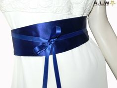 Gürtel in Blau aus Seidenmischgewebe von alw-design auf DaWanda.com