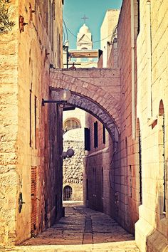 Jerusalem Old City Jewish Quarter, looking towards Christian Quarter. Help Ro get to Israel: http://www.indiegogo.com/projects/dreaming-toward-israel/x/3511372