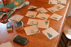 Grocery Sack Gift Tags How-To  http://loveinthesuburbs.com/wordpress/christmas-projects-gift-tags