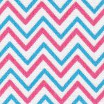 Small Blue and Raspberry Chevron Fabric Finders Cotton Fabric