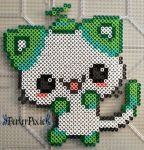 cats, kawaii, and hama beads image Pokemon Perler Beads, Diy Perler Beads, Perler Bead Art, Pearler Beads, Melty Bead Patterns, Pearler Bead Patterns, Perler Patterns, Beading Patterns, Perler Bead Designs