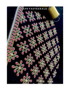 Cutwork Blouse Designs, Saree Blouse Neck Designs, Simple Blouse Designs, Bridal Blouse Designs, Hand Embroidery Designs, Simple Designs, Aari Embroidery, Embroidery Works, Hand Work Blouse Design