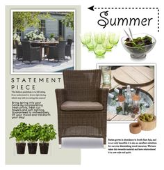 """""""Summer Outdoor Dining"""" by viva-12 ❤ liked on Polyvore featuring interior, interiors, interior design, home, home decor, interior decorating, Nambé, .wireworks, Boskke and summeroutdoordining"""