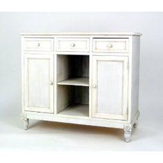 Brookfield Sideboard (White Wash) (36`H x 42`W x 18`D)