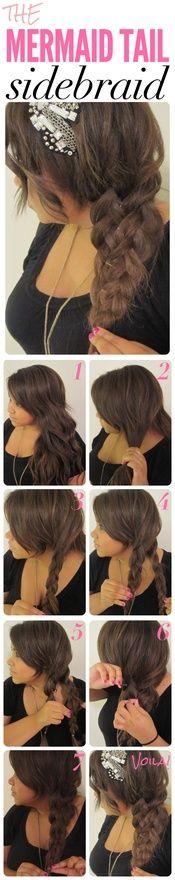 Mermaid Tail Side Braid...need to try