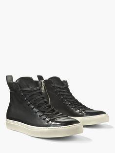 John Varvatos Men's 315 Reed Leather Mid-top Sneakers In Black Casual Shoes, Men Casual, Oxford Boots, John Varvatos, Boots For Sale, Stylish Men, Men's Shoes, High Top Sneakers, Footwear