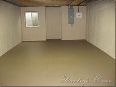 Painting an unfinished basement