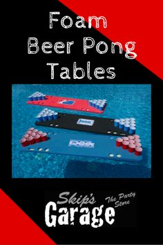 Foam Beer Pong Tables - Perfect For College Pool Parties - Quality And Durable From Skip's Garage #skipsgarage #beerpong #floatingbeerpongtable #collegeparty #springbreak #partygame