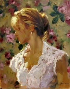 """Johnson's sure brush strokes, bold use of color and impasto, and delicate rendering of the human face and form all work together in harmony to create """"Poetic Intimacy."""""""