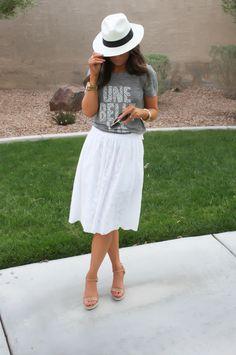 Heather Grey + White Linen