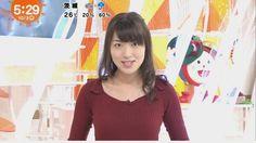 【画像】めざまし天気・阿部華也子の巨乳がニットでくっきりwww : 女子アナお宝画像速報
