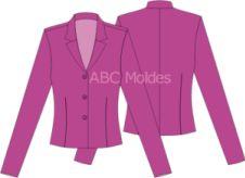 BLAZER CURTO Shorts, Ideias Fashion, Tops, Jackets, Women, Cropped Blazer, Church Suits, Women Blazer, Sweater Hoodie