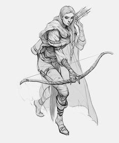 Feyre Character Sketches, Fantasy Character Design, Art Sketches, Character Inspiration, Character Art, Art Reference Poses, Drawing Reference, Fantasy Drawings, Fantasy Art