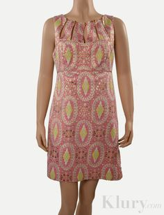Milly Pink & Gold Brocade Dress