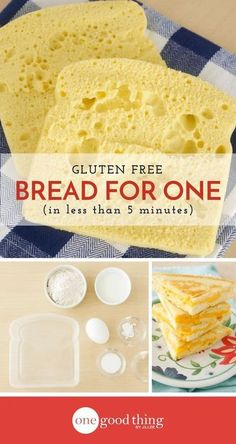 Learn how quick and easy it is to make gluten free bread for one in your microwave! You'll be enjoying a gluten free sandwich in no time.