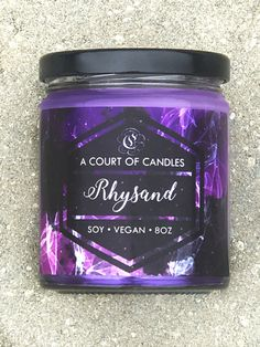 Rhysand  100% Soy Wax Candle 9oz by acourtofcandles on Etsy