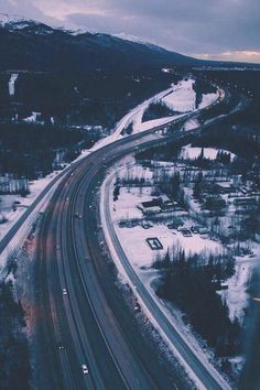 snowy highway #photography