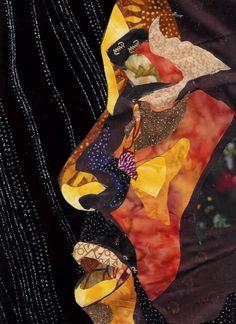 """ Kilo Quilt""  Bisa Butler's Art World Quilt Detail"