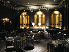 Party Location: The Beaufort Bar. A beautifully restored Art Deco bar and cabaret at the Savoy hotel, London. #whbm #feelbeautiful