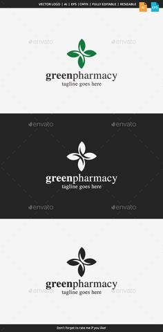 Green Pharmacy - Logo Design Template Vector #logotype Download it here: graphicriver.net/...