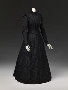 "fripperiesandfobs: "" Mourning dress ca. 1899 From the National Gallery of Victoria """