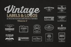 Vintage Labels Logos The Set Contains 16 This Is Also In A Bundle Check It Out Now And Save Money AI EPS PSD Editable Files