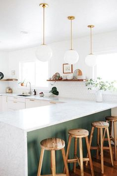 57+ Amazing Scandinavian Kitchen Decor Ideas #scandinaviankitchen #kitchendecor #kitchendecorideas