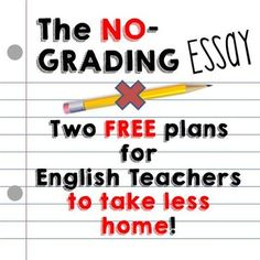 FREE calendar plans for no-grading, at-school essays (using writer's workshop) that results in English teachers taking no work home! Reduce grading piles and fight teacher burnout!
