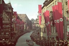 Nuremberg, Germany in 1938 during Hitler's time.  Photo by Hugo Jaeger.