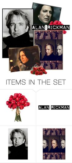 """""""always and forever"""" by xaoimai ❤ liked on Polyvore featuring arte e AlanRickman"""