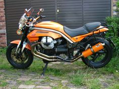 Moto Guzzi Griso Stainless Orange oval single outlet Road Legal/RACE MTC Exhaust #MaxTorqueCans