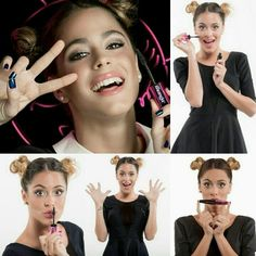 Martina Stoessel w/ Minnie Mouse Buns
