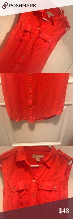 Michael Kors button up dress Michael Kors button up dress. Orange. Small MICHAEL Michael Kors Dresses Mini