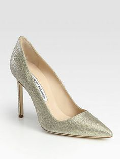 Manolo Blahnik BB Glitter-Coated Pumps auf shopstyle.de