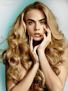 Cara Delevingne Photoshoot For Allure Magazine. Gorgeous Curly #Hairstyle.