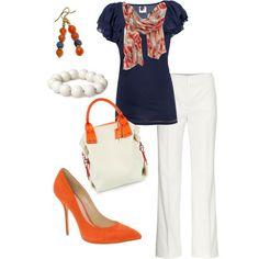 white and orange - game day fashion