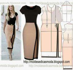 Vestido falda lapiz