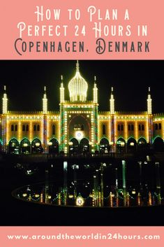 All the travel tips you need for A Perfect 24 Hours in Copenhagen Denmark with Tivoli Gardens. This travel guide will teach you the best food museums fun facts attractions tips and other amazing things to do! Denmark Europe, Denmark Travel, Copenhagen Hotel, Copenhagen Denmark, Travel Essentials, Travel Tips, Travel Guides, Tivoli Gardens, Aarhus