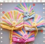 Zefirka hat pattern in Russian Crochet Baby Boots, Crochet Beanie Hat, Crochet Hats, Newborn Crochet Patterns, Knitting Patterns, Fabric Patterns, Baby Hats Knitting, Knitted Hats, Bandeau Crochet