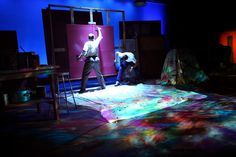 Ronnie Meek as Rothko and Justin Boccitto as Ken in Blackbird Theater's production of RED by John Logan.