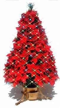artificial poinsettia tree from our stores pickupflowers the flower expert