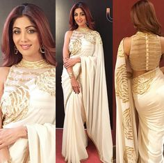 Mayyur Girotorao saree look for Shilpa Shetty