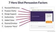 7 Persuasion Factors of Hero Shot Images
